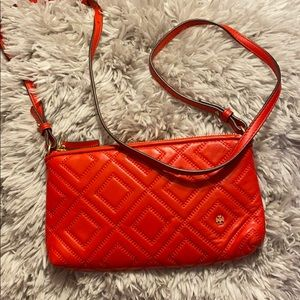 Excellent condition red Tory Burch crossbody.